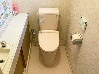 トイレリフォーム 家族みんなが喜ぶ、床ごと綺麗にしたトイレ
