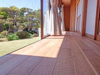 内装リフォーム 和室とお庭に調和する無垢フローリング